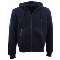 Men's sweatshirt Hoodie Full Zip blue