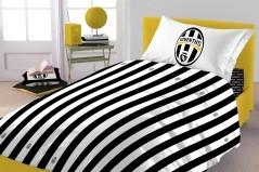Parure Copripiumino Matrimoniale Juventus bianco nero