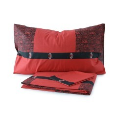 Parure Copripiumino Milan rosso nero