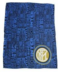 Plaid Inter nero azzurro