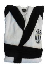 Accappatoio Spugna Juventus bianco nero