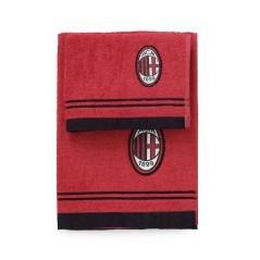 Set Spugna Milan rosso nero