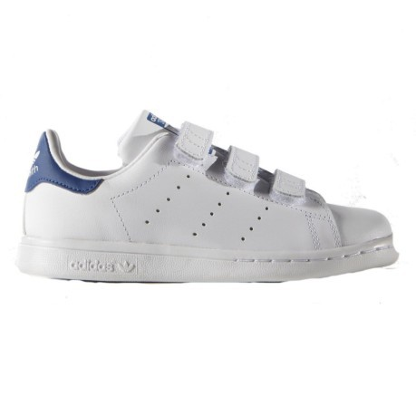 Shoe Guy Stan Smith Velcro colore White Blue - Adidas Originals ... af8deaa4f749