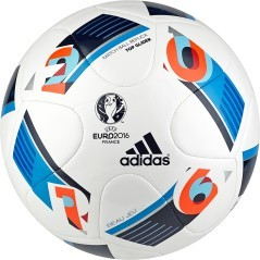 Pallone Euro 16 Top Glider bianco blu