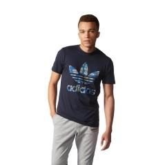 T-Shirt Uomo Tre Foil blu fantasia