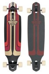 Longboard Camino nero rosso
