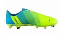 Scarpe Calcio Uomo Evo Power 1.3 FG giallo azzurro destra