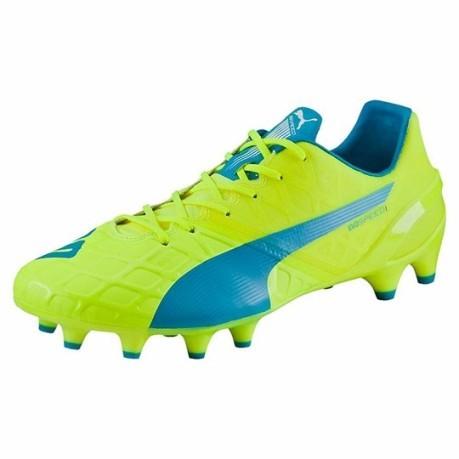 Puma Football Boots Evo Speed 1.4 Fg colore Yellow Light blue - Puma ... 03a4ecdbe1b