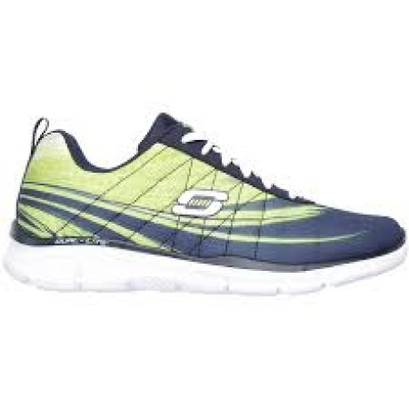 Shoes Women Memory Foam colore Blue Yellow - Skechers - SportIT.com 80158f97f02