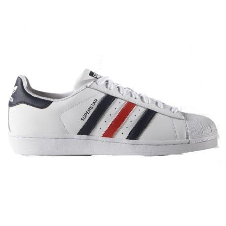 Shoes Superstar Foundation colore White Blue - Adidas Originals ... ca50570cf09f