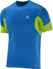 T-shirt uomo Agile SS blu-verde fronte