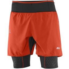 Pantaloncino twinskin Uomo S-Lab Exo  rosso nero