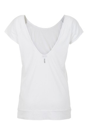 T-shirt Donna Stampa City bianco