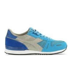 scarpa TItan II lato destro azzurro-grigio