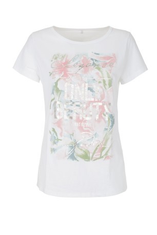 T-Shirt Donna Stampa Rose bianco