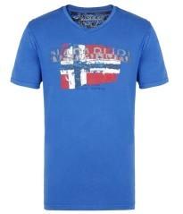 T-shirt Uomo Slood Bandiera blu