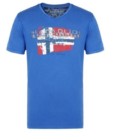 T-shirt Uomo Slood Bandiera blu