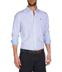 Camicia uomo Gillard Check bianco-blu