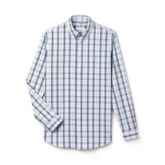 Camicia Pinpoint Chek Botton Down bianco- blu