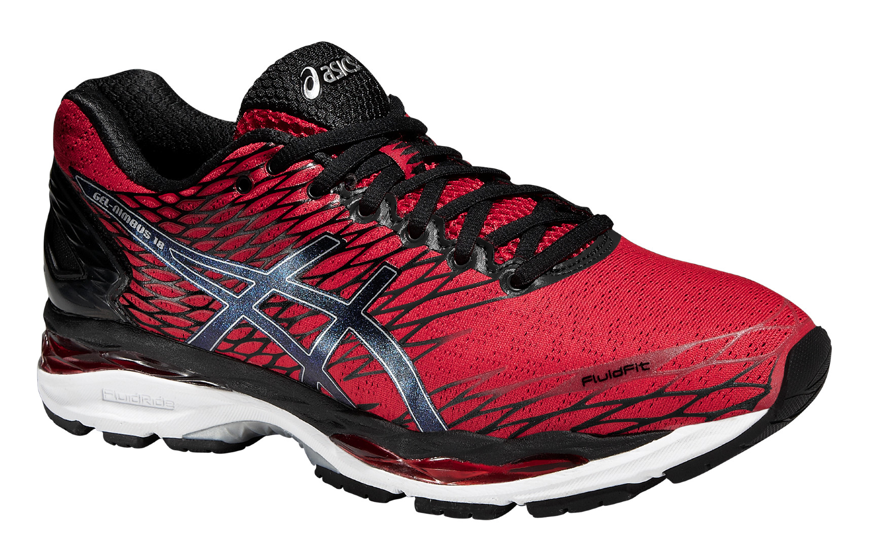 Mens Shoes Gel Nimbus 18 A3 Neutral colore Black Red - Asics - SportIT.com 3ff80712005
