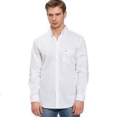 Camicia Fine Ribbing Lacoste bianca