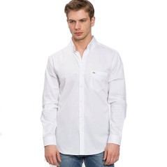 Shirt the End of the Ribbing Lacoste white