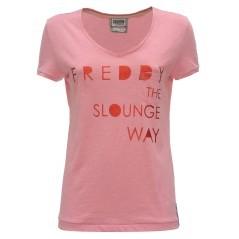 T-shirt Donna Scollo V Taschino rosa