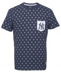 T-Shirt Uomo Conden Aop Pocket blu fantasia