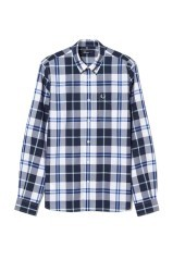 Man shirt Check white blue