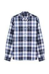 Camicia Uomo Check bianco blu