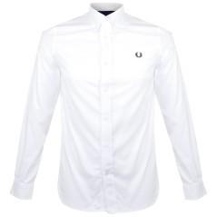 Camicia Uomo Botton Down Tinta Unita bianco