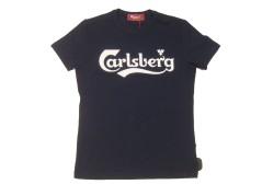 T-Shirt Uomo Con Scritta Davanti blu