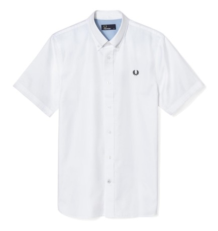 Camicia Uomo Botton Down Bordata bianco