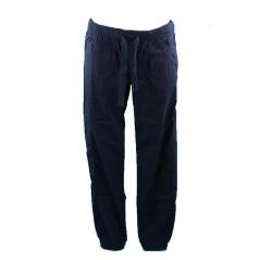 Pantalone Donna Popeline Stretch blu