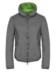 Giacca Uomo Nylon Con Cappuccio grigo verde