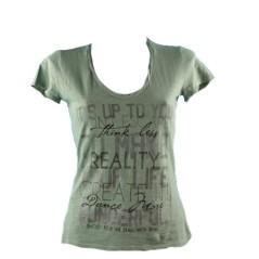 T-Shirt Donna Fiammata Stampa blu
