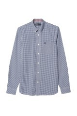 Man shirt Vichy blue