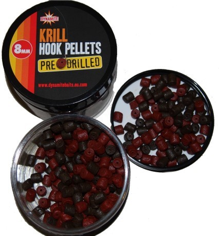Pellet  Krill Hook Pre Drilled rosso