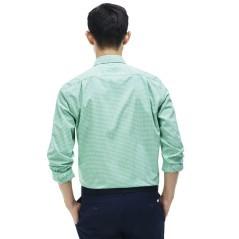 Camicia uomo Check Popeline blu- bianca