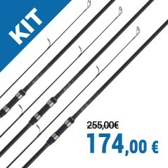 Kit 3 canne Tribal TX-1 12' 3,5 lb
