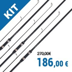 Kit 3 canne Tribal TX-1 13' 3,5 lb