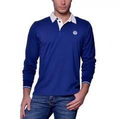Polo Uomo Collo Camicia bianco blu