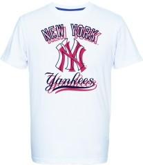 T-Shirt Uomo Therma Yankees bianco rosso