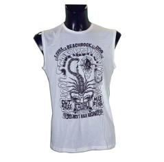 T-Shirt smanicata Beachrock bianca fronte