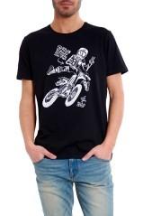 T-Shirt uomo Motocicletta blu fronte