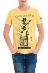 maglietta bambino Cantina Old Pirates giallo fronte