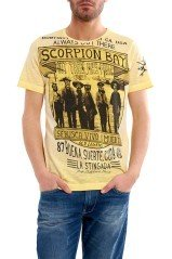 T-Shirt uomo Bandidos giallo fronte
