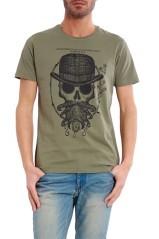 T-Shirt Uomo Hipster grigio fronte