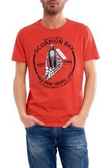 T-Shirt uomo Poison rosso fronte