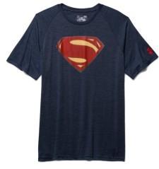 T-Shirt Uomo Superman Tech SS blu rosso